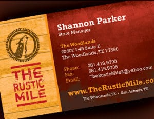 Business Cards for The Woodlands Businesses