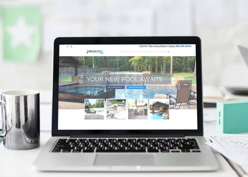 custom pool company website design
