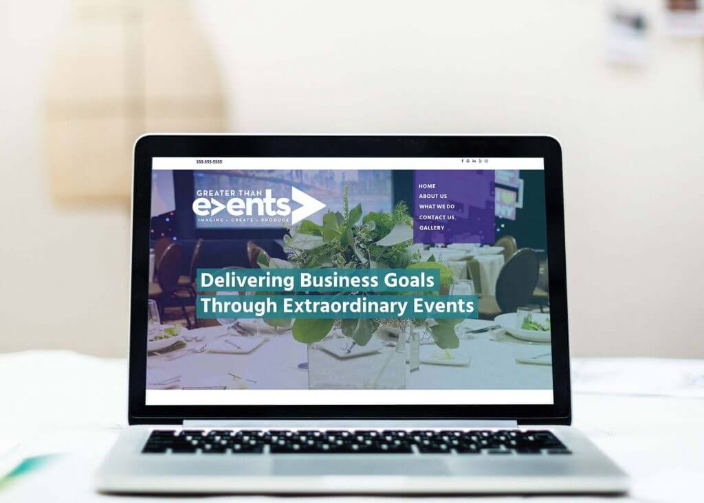 event planning website design and management