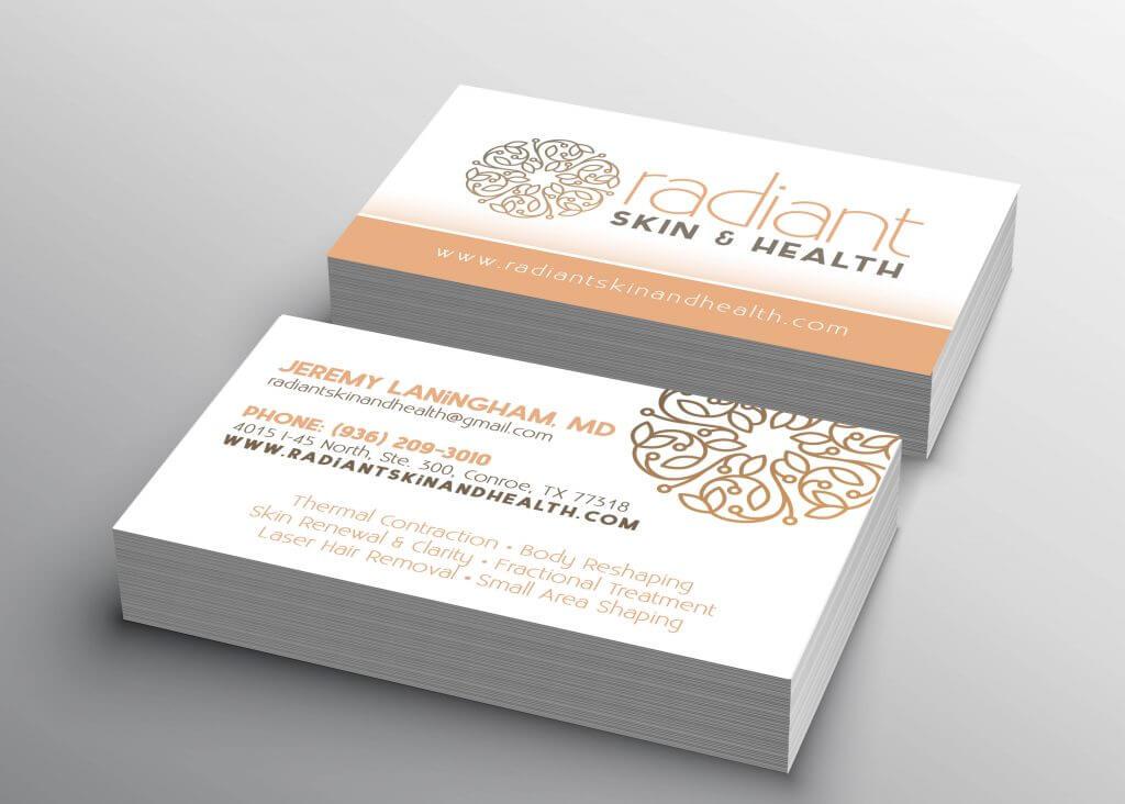 business card mockup presentation for display