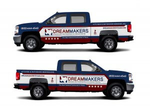 home service custom vehicle truck wrap design