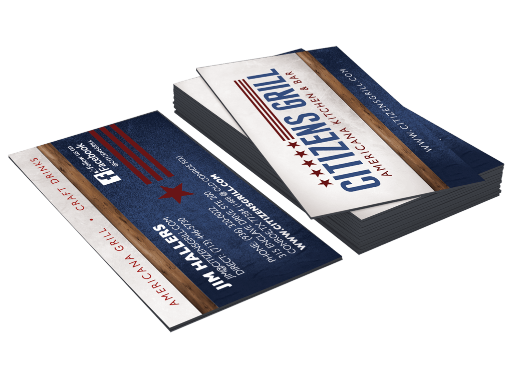 restaurant business card design and printing