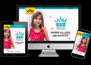 medical custom website design and website management