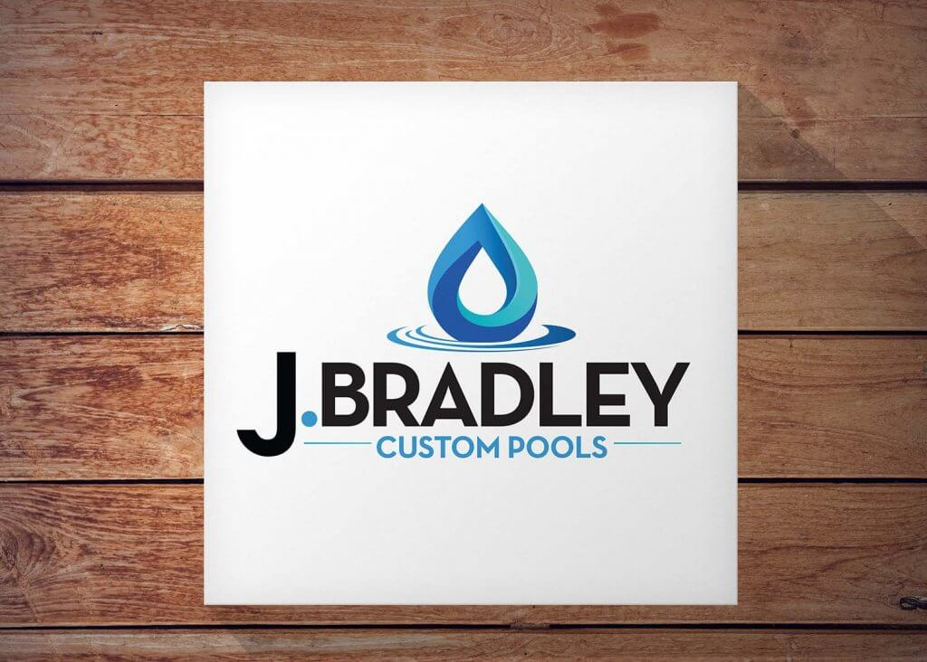custom pool company logo design and branding