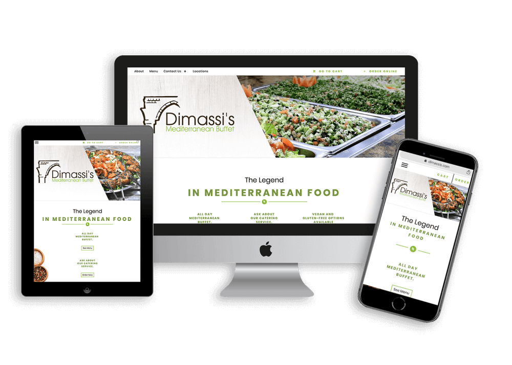 restaurant website design and website management with e-commerce integration