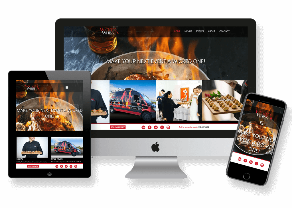 local catering company website design and website management