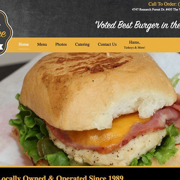 Web design for Honey Bee Ham in The Woodlands, TX