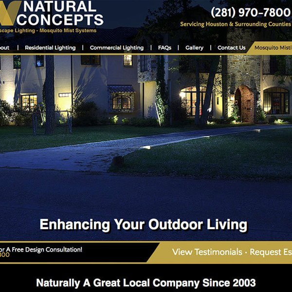 Web Design | The Woodlands, TX<br />Natural Concepts